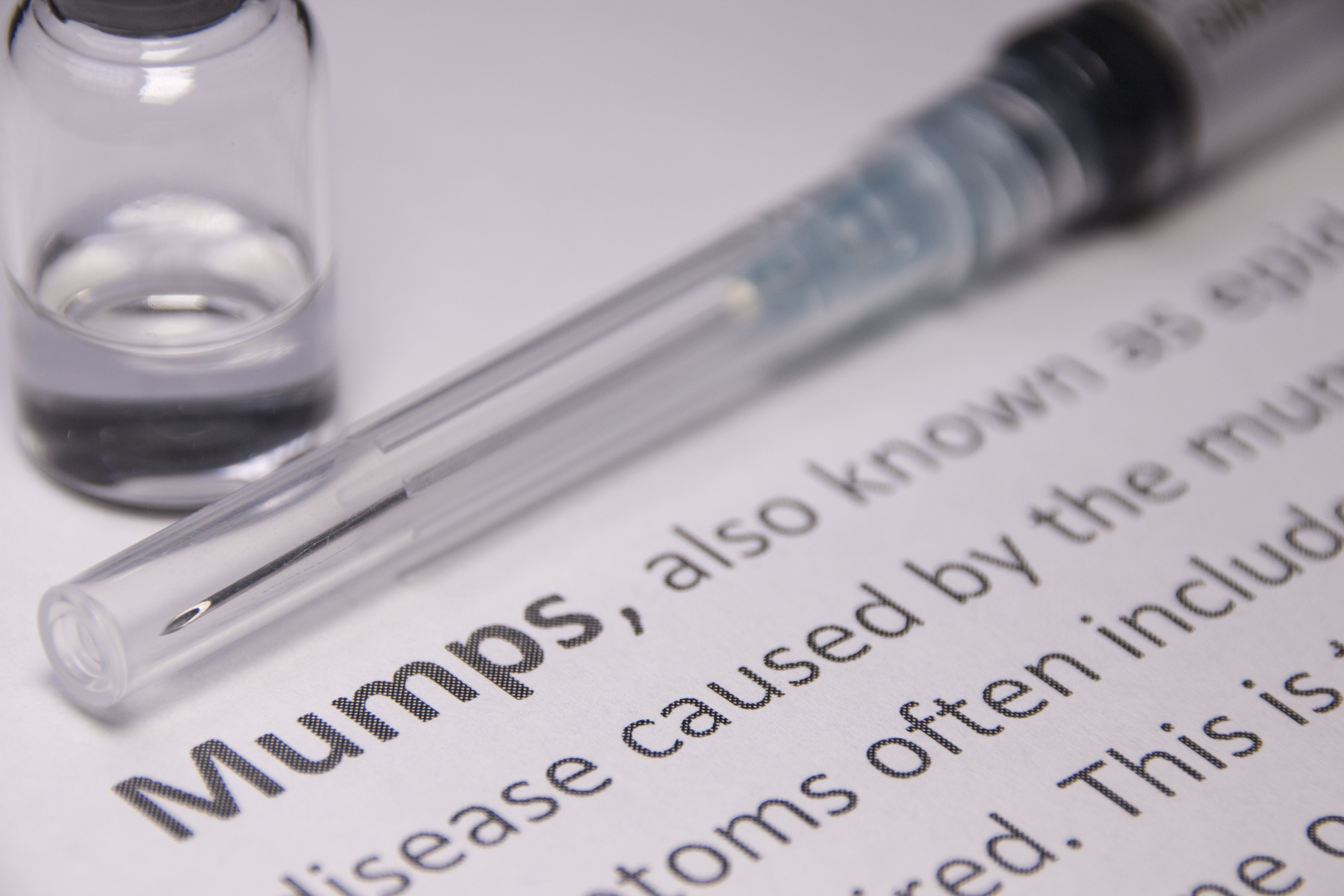 MMR vaccination on medical journal article about mumps