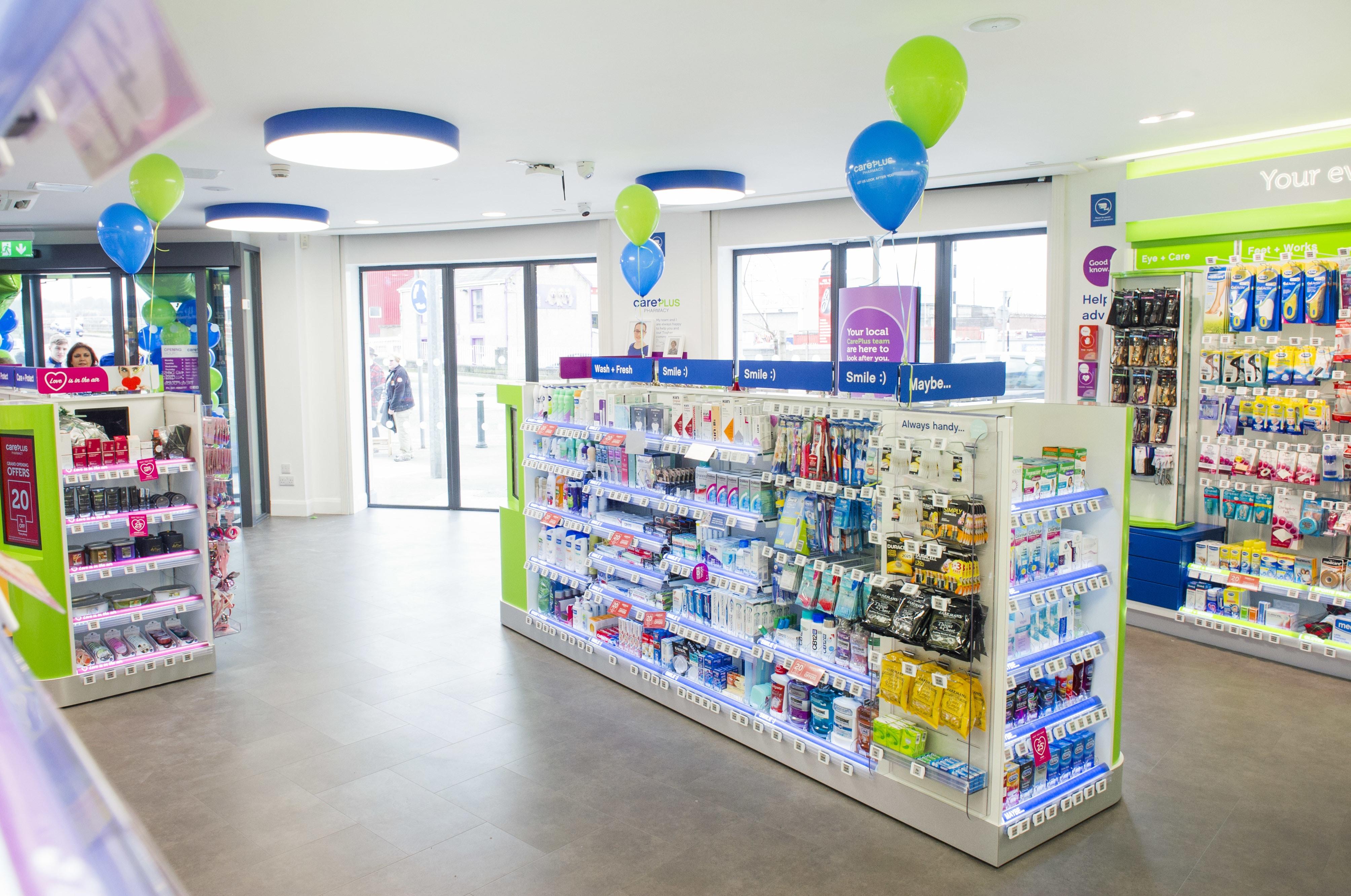 internal photograph of Irwin's CarePlus Pharmacy Togher